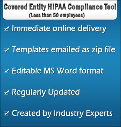 Covered Entity HIPAA Compliance Tool