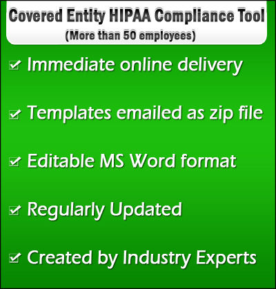 Covered Entity HIPAA Compliance Tool for More than 50 employees