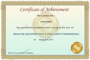 Law Enforcement & Public Safety Professionals Course